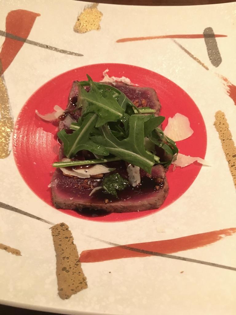 桜肉のタリアータ